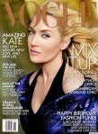 Kate Winslet on the cover of Vogue, 2013 Questioning: ''Should there be a code of ethics which governs 'retouching'?''