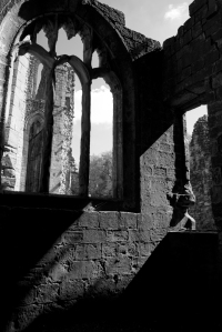 Shadow and light through the arches - Fountains Abbey