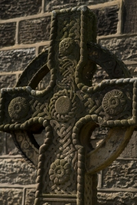Ribbon carving - celtic cross Addingham